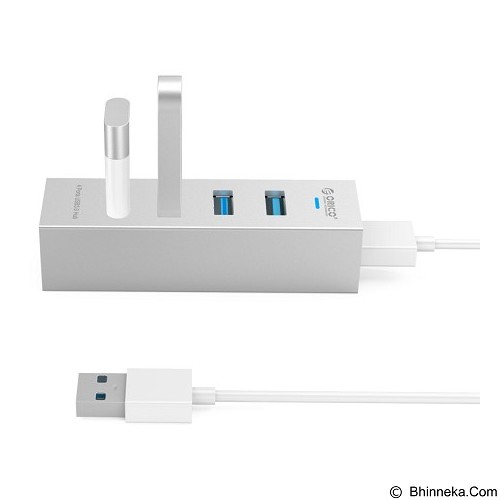 ORICO High Speed HUB 4 Port USB 3.0 Type A/C [ASH4-U3-Silver] - Silver (Merchant) - Cable / Connector Usb