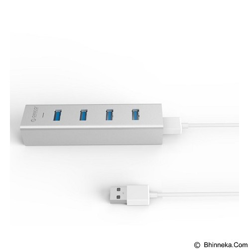 ORICO USB 3.0 HUB 4 Port [H4013-U3SV- Silver] - Silver - Cable / Connector Usb