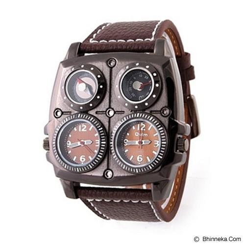 OULM Multifunction Watch For Men [1140] - Brown - Jam Tangan Pria Fashion
