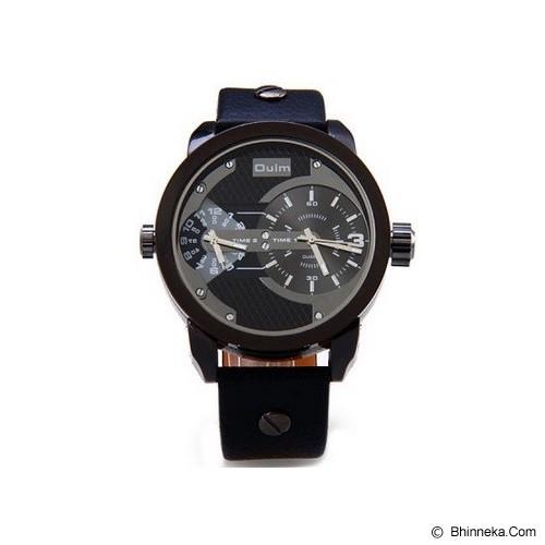OULM Dual Time Watch For Men [3221] - Black - Jam Tangan Pria Fashion