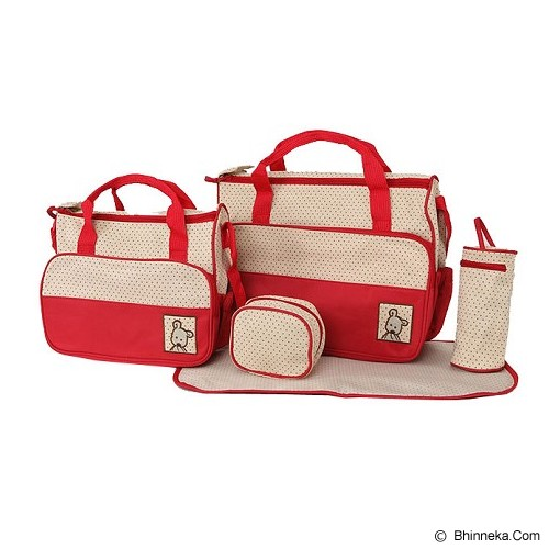 OUR CHICS SHOP Baby Bag Set - Merah - Tas Perlengkapan Bayi