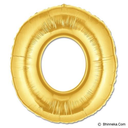OUR DREAM PARTY Balon Foil Huruf O 100cm - Emas - Balon