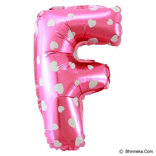 OUR DREAM PARTY Balon Huruf  F - Pink - Balon