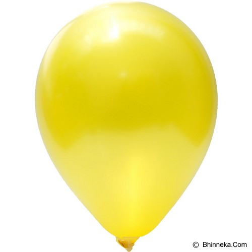 OUR DREAM PARTY Balon Latex Metalik - Kuning - Balon