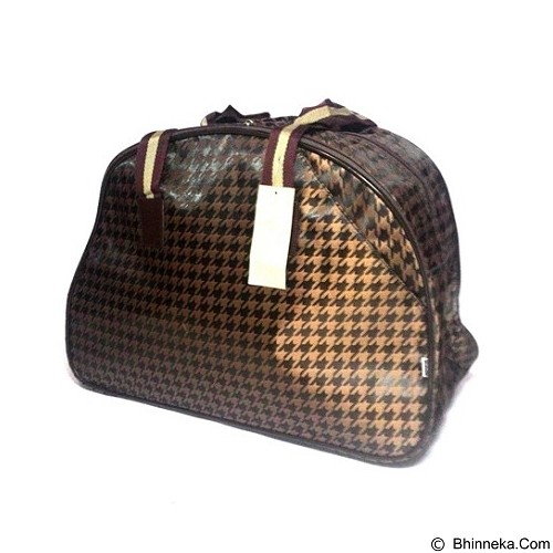 OUTLETKAKI5 Travel Bag Houndstooth Bronze (Merchant) - Travel Bag