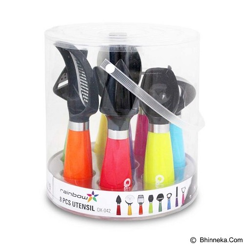 OXONE Rainbow Kitchen Utensil 8pcs [OX-042] - Pembuka Tutup Botol