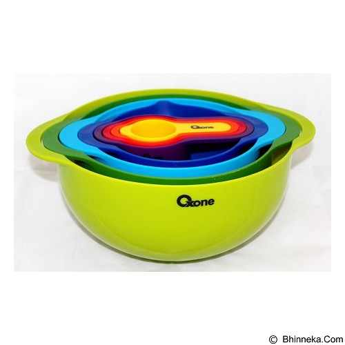 OXONE Rainbow Mixing Bowl Set 8pcs [OX-041] - Mangkuk / Mangkok / Bowl