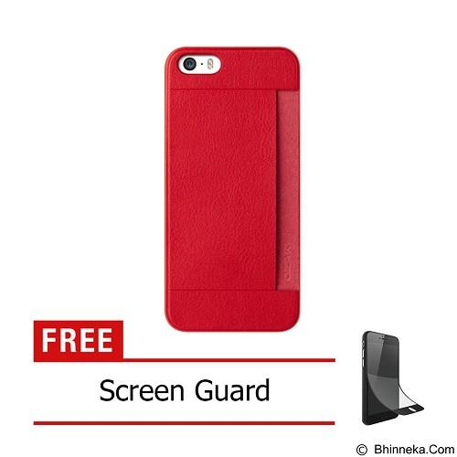 OZAKI O!Coat 0.3 Pocket Ultra Slim for iPhone 5/5S [OZ-OC547RD] - Red - Casing Handphone / Case