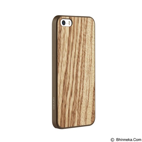 OZAKI O!Coat 0.3 Wood Ultra Slim Zebrano for iPhone 5/5S [OZ-OC545ZB] - Casing Handphone / Case