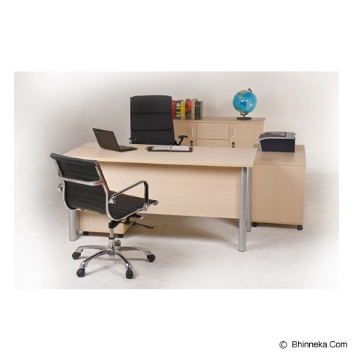 PALAZZO FURNITURE Aditech Meja Kantor Manager [IS 896] - Maple - Meja Kantor