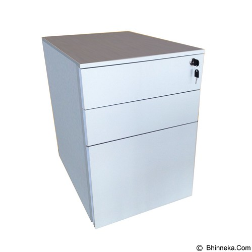 PALAZZO FURNITURE Laci Sorong Metal [SWD-H3] - Light Grey (Merchant) - Drawer