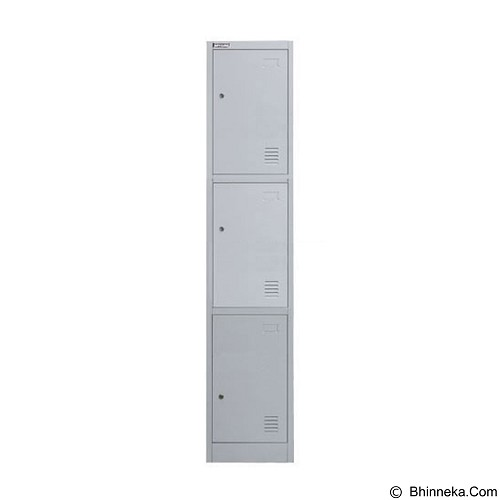 PALAZZO FURNITURE Metal Locker [SL-B3] - Light Grey (Merchant) - Drawer