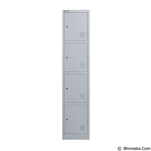 PALAZZO FURNITURE Metal Locker [SL-B4] - Light Grey (Merchant) - Filing Cabinet / Lemari Arsip