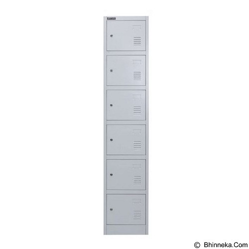 PALAZZO FURNITURE Metal Locker [SL-B6] - Light Grey (Merchant) - Drawer