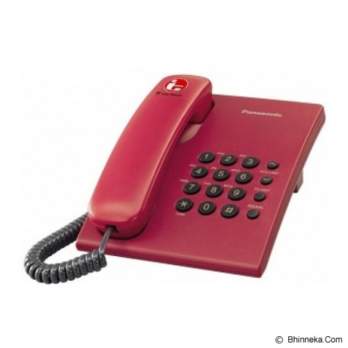 harga PANASONIC Corded Phone [KX-TS505] - Red Bhinneka.Com