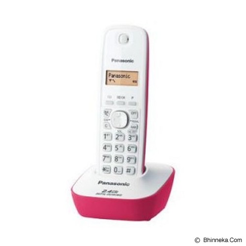 PANASONIC Cordless Phone [KX-TG3411] - White Pink - Wireless Phone