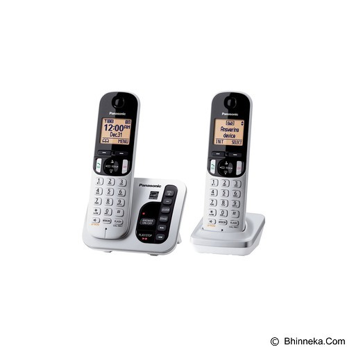 PANASONIC Cordless Phone [KX-TGC222] - Silver - Wireless Phone
