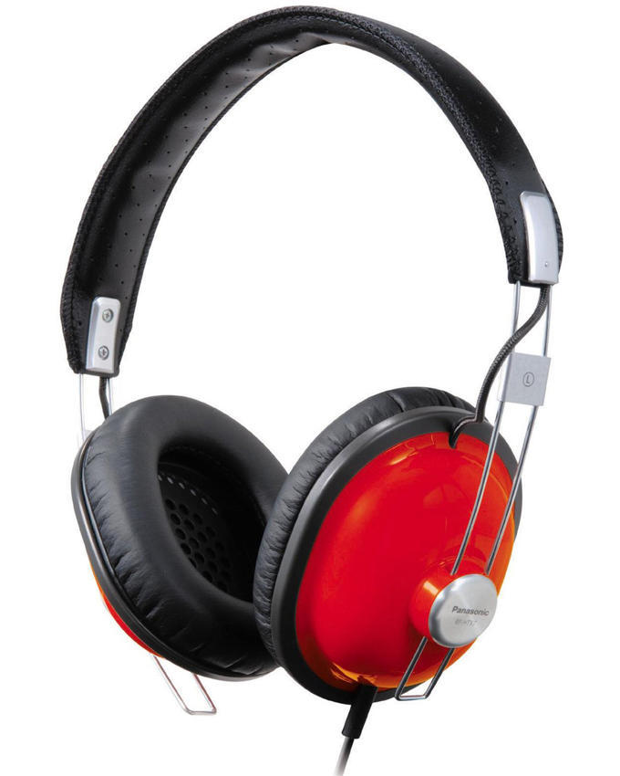 PANASONIC Monitor Headphones [RP-HTX7AE-R] - Red - Headphone Full Size
