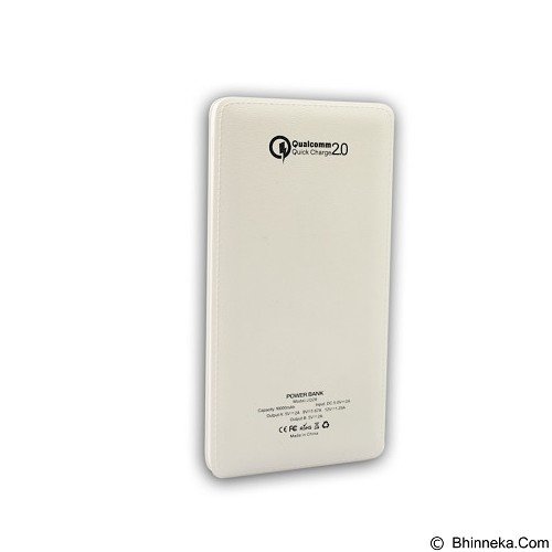 PANZER Powerbank 10000mAh Fast Charging Qualcomm 2.0 - White (Merchant) - Portable Charger / Power Bank