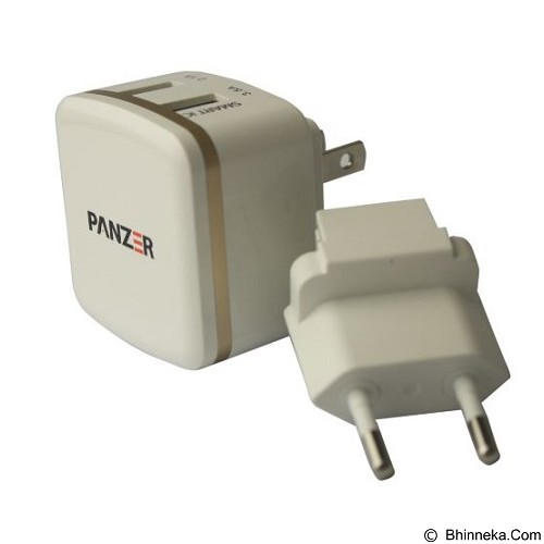 PANZER Travel Charger 2 USB Ports with Smart IC and Fast Charging 3.5A - White list Gold (Merchant) - Charger Handphone