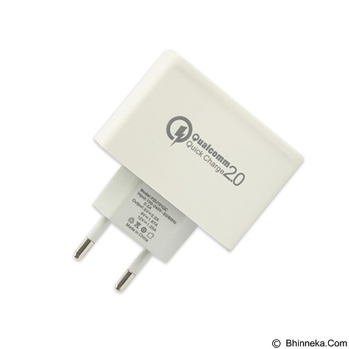 PANZER Travel Fast Charger Qualcomm 2.0 - White (Merchant) - Charger Handphone