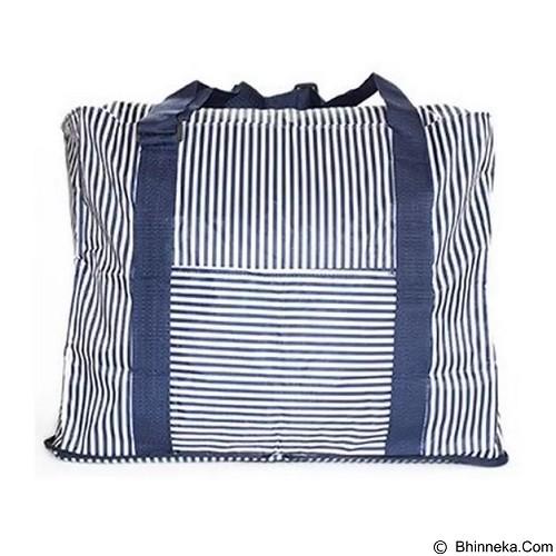 PEACHES OLSHOP Stripes Travel Bag - Blue (Merchant) - Travel Bag