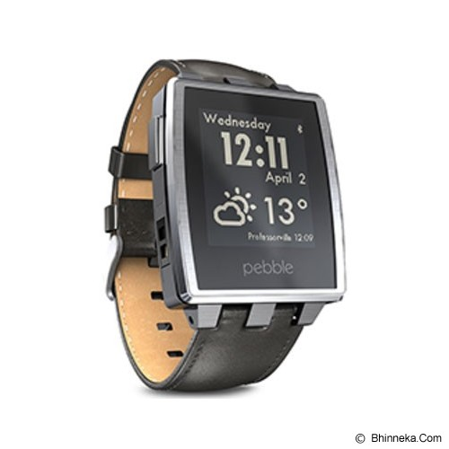 PEBBLE Steel - Silver - Smart Watches
