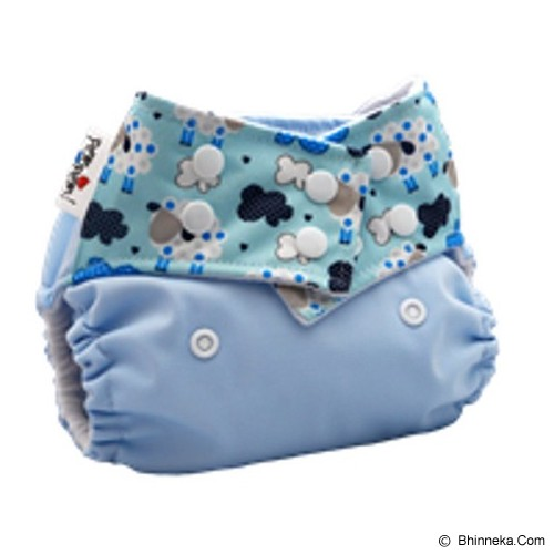PEMPEM Snap + Inser Litty Motif Domba - Cloth Diapers / Popok Kain