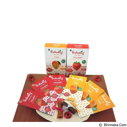 PESONA NUSANTARA Fruitstip Mix Strawberry & Mango 6 sheet (Merchant) - Buah Kering