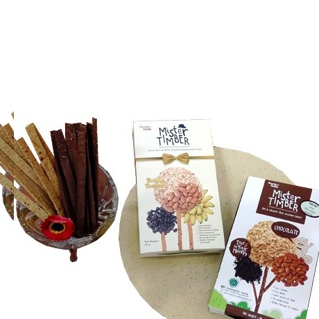 PESONA NUSANTARA Mister Timber Mix Raisin Banana Double Choco 2 box [CGK020037003800] Merchant - Kue Kering Lainnya