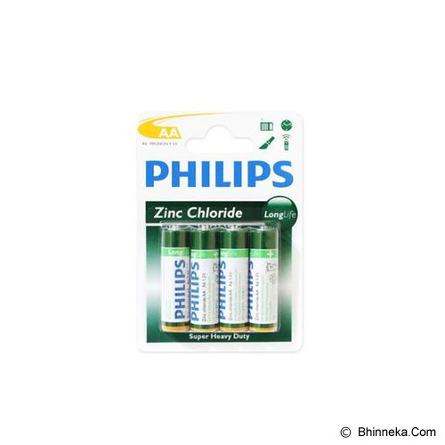 PHILIPS Carbonzinc AA BP4 - Battery and Rechargeable