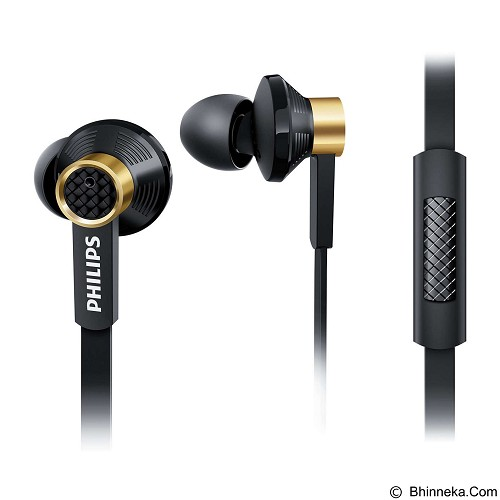 PHILIPS Earphone with Mic [tx2bk] - Black (Merchant) - Earphone Ear Monitor / Iem