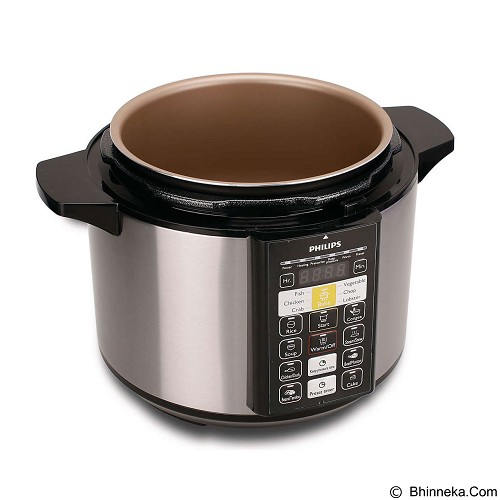 PHILIPS Electric Pressure Cooker [HD 2136] - Silver - Rice Cooker