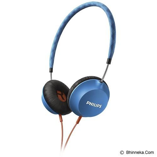 PHILIPS Strada On Ear CitiScape Headband Headphones [SHL 5100BL] - Blue (Merchant) - Headphone Portable