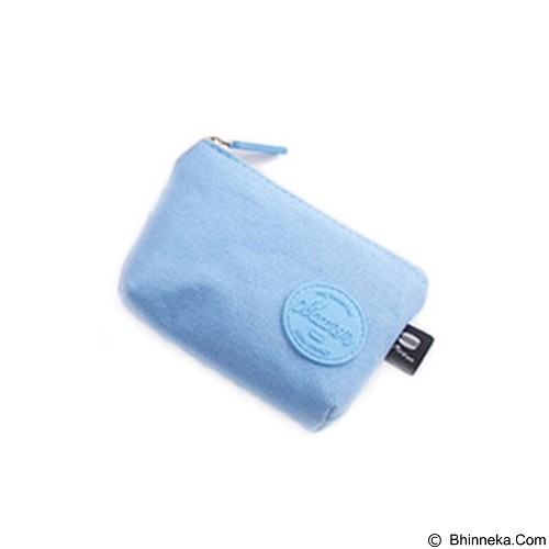 PINKABULOUS Macaron Canvas Coin Pouch - Blue (Merchant) - Tas Kosmetik / Make Up Bag