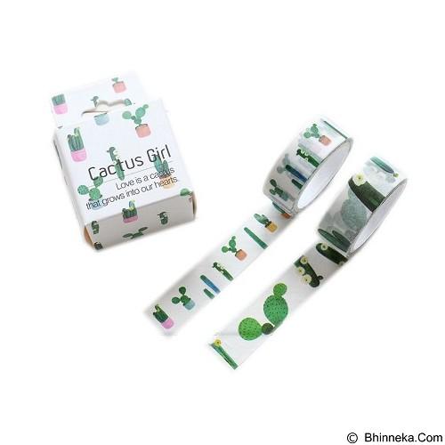 PINKABULOUS Masking Tape Joytop Cactus Girl (Merchant) - Tas Kosmetik / Make Up Bag