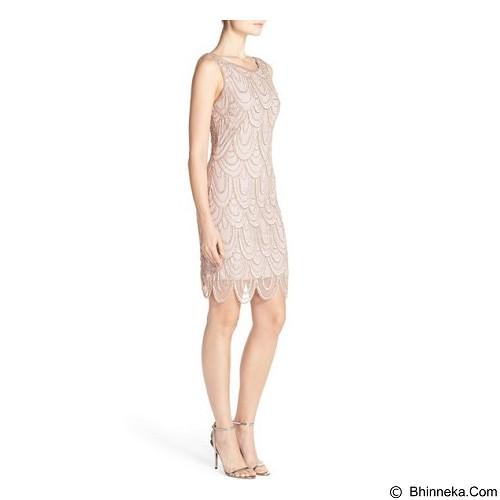 PISARRO NIGHTS Embellished Mesh Cocktail Dress Petite (Merchant) - Mini Dress Wanita
