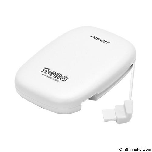 PISEN Charging Cookies L 1800mAh - Apple White (Merchant) - Portable Charger / Power Bank