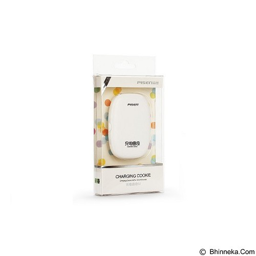 PISEN Charging Cookies M 1500mAh - Apple White (Merchant) - Portable Charger / Power Bank
