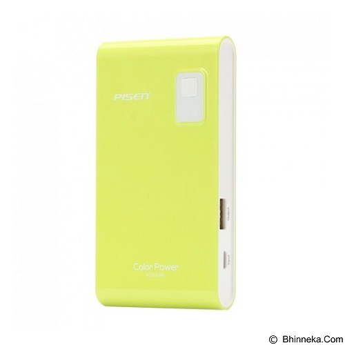 PISEN Color Power 4200mAh - Apple Green (Merchant) - Portable Charger / Power Bank