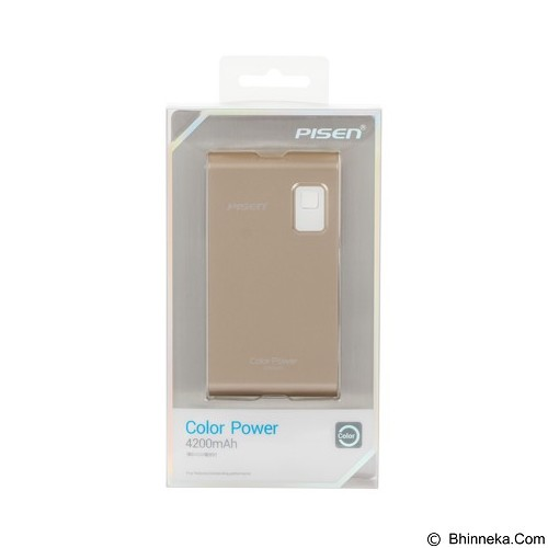 PISEN Color Power 4200mAh - Champagne Gold (Merchant) - Portable Charger / Power Bank