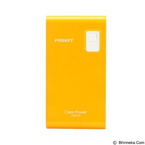 PISEN Color Power 4200mAh - Gold Navel Orange (Merchant) - Portable Charger / Power Bank
