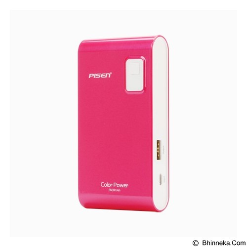 PISEN Color Power 5600mAh - Rose Red (Merchant) - Portable Charger / Power Bank