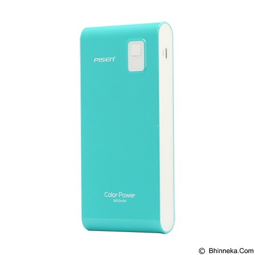 PISEN Color Power 9600mAh - Blue Green (Merchant) - Portable Charger / Power Bank