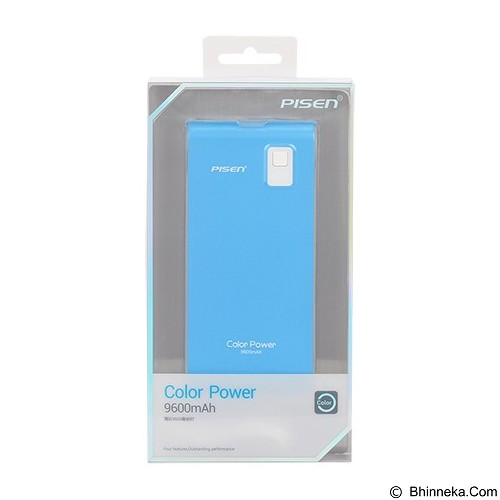 PISEN Color Power 9600mAh - Lake Water Blue (Merchant) - Portable Charger / Power Bank