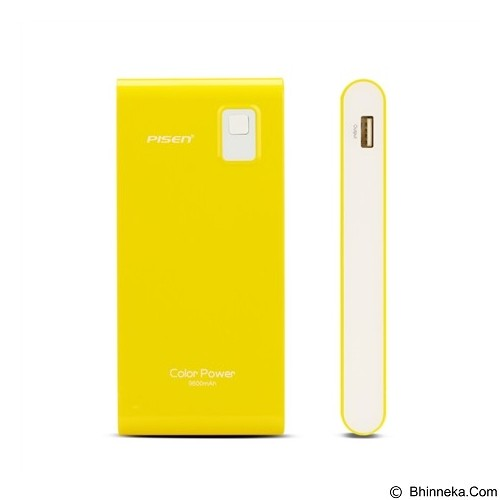 PISEN Color Power 9600mAh - Lemon Yellow (Merchant) - Portable Charger / Power Bank