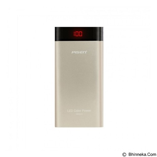 PISEN LED Color Power 10000mAh - Gold (Merchant) - Portable Charger / Power Bank