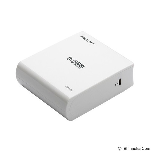 PISEN Wireless P Station 7500mAh - Apple White (Merchant) - Router Consumer Wireless