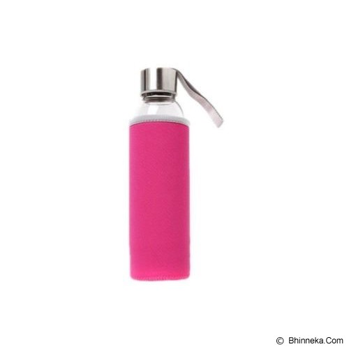 PIXEL99 Borosilicate Glass Bottle 550ml - Pink - Botol Minum