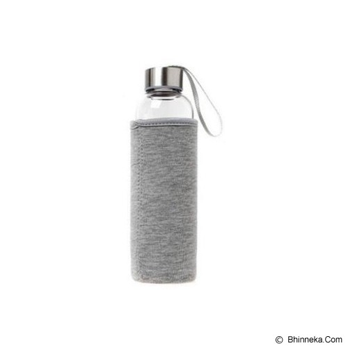 PIXEL99 Borosilicate Glass Bottle 550ml - Abu Abu - Botol Minum